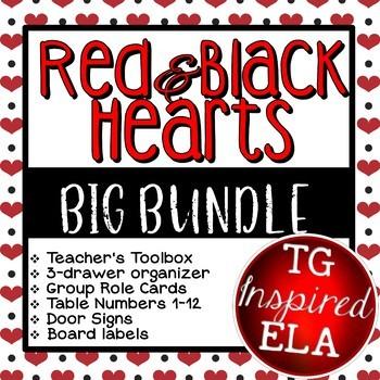 BUNDLE SAVINGS! Hearts --: Toolbox, Drawers, Signs, Numbers, Roles, Walls