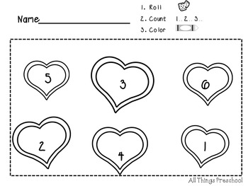 Valentine's Day-Preschool-Math