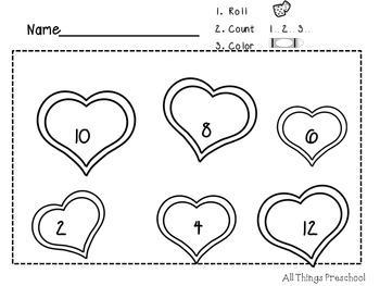 Valentine's Day-Preschool-Math