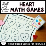 Hearts Roll and Color Math Activities