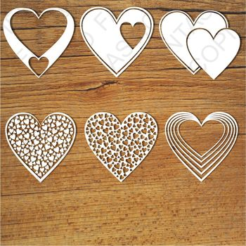 Hearts SVG files for Silhouette Cameo and Cricut.