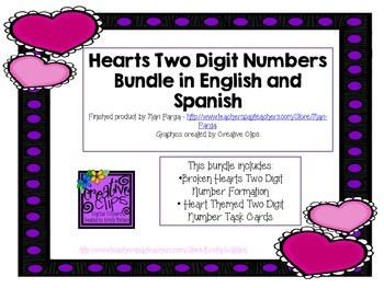 Hearts Two Digit Number Bundle