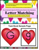Autism Heart Upper and Lowercase Letter Match Activity Book