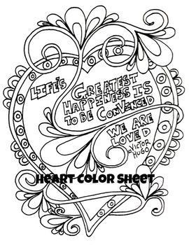 Hearts Valentine Color Sheet