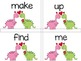 Hearts (Valentine Themed) Sight Word Game with number and