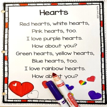 Hearts - Valentines Day Poem for Kids
