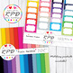 Hearts Valentines pattern,rainbow colours & white digital paper set/ backgrounds