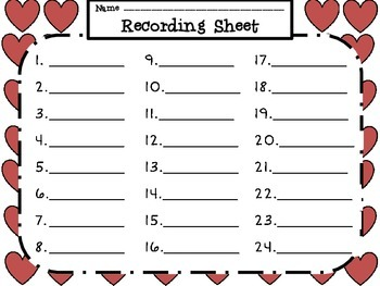 Valentine Hearts a'Flutter- Fraction, Array & Symmetry Practice with Hearts