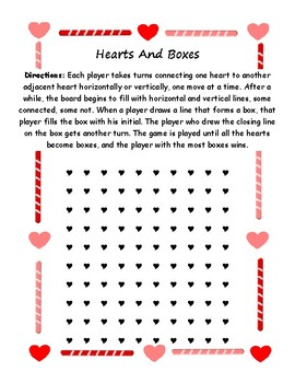 Hearts and Boxes, a Dots game