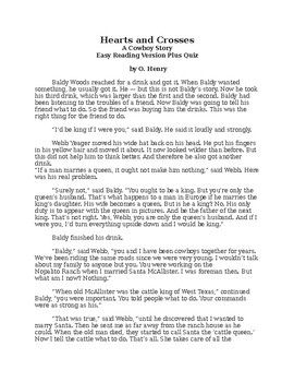 Hearts and Crosses - O. Henry - Easy Reading Version