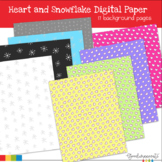 Hearts and Snowflake Paper Freebie