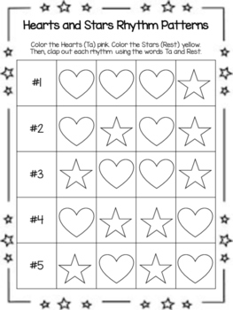 Hearts and Stars Rhythm Patterns