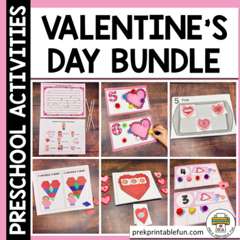 Hearts and Valentine's day activities for preschool, pre-k and tots
