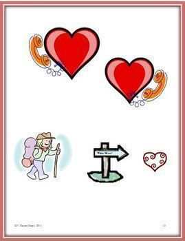 Heart and Valentine Rebus Puzzles (24) For February