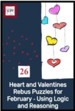 Hearts and Valentines: Brain Teaser Activities For February