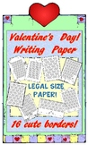 Hearts and Valentines Lined Writing Paper