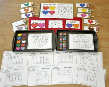 "Valentine's Day Adapted Books Unit: ""Hearts in Many Colors"""