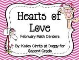 Hearts of Love....February Math Centers