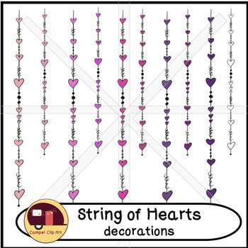 Hearts on Strings, Dangling Hearts Decorations {CU - ok!}