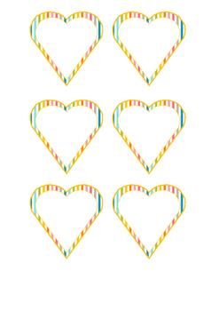 Heartshaped  Labels (stripes)!