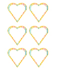 Heartshaped  Labels (stripes)!