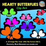 Hearty Butterflies Clip Art For Teachers