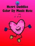 Heart Buddies Color By Music Note Rhythm Coloring - Quarter/Eighth Note
