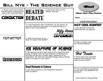 Heat Bundle: Notes, Practice, Tests - and Bill Nye!