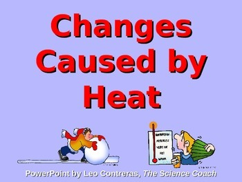 Heat Changes Matter Lesson