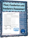 Heat Conductors and Insulators Assessment