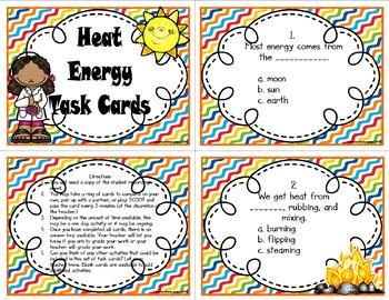 Heat Energy Bundle (Task Cards Included)