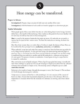 Heat Energy Can Be Transferred