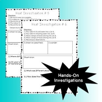 Heat Energy: Interactive Notebook and Investigations