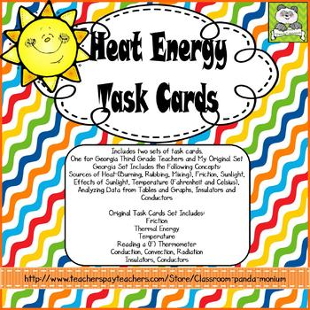 Heat Energy Task Cards