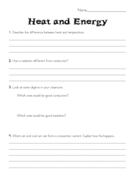 Heat & Energy Test