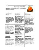 Heat Energy Tic-tac-toe choice board