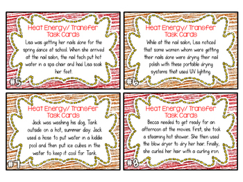 Heat Energy/ Transfer Task Cards CONDUCTION, CONVECTION, RADIATION