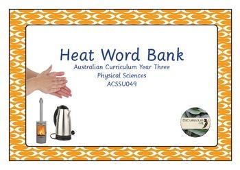 Heat Energy Word Bank