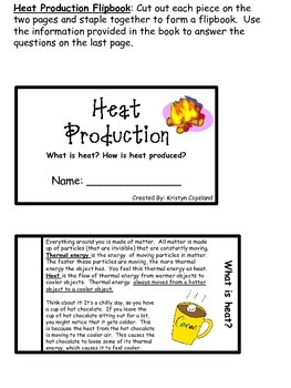Heat Flipbooks Pack (Interactive Notebooks)