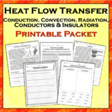 Heat Flow Printable Packet: Conduction, Convection, Radiation, Insulation