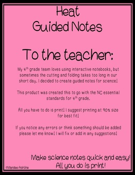 Heat Guided Notes