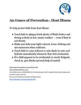Heat Illness Information Fact Sheet