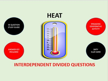 Heat: Interdependent Divided Question Puzzles Activity