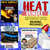 Heat Energy, Temperatures & Thermometers, & Types of Heat Reading Passage Bundle