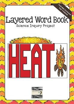 Heat Layered Word Book - Science Inquiry Project