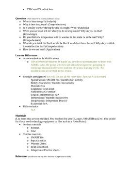 Heat Lesson Plan