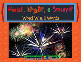 Heat, Light, & Sound Word Wall Words with Pictures