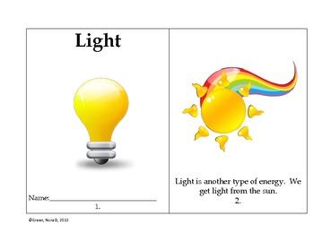 Heat, Light, and Sound.  A First Grade Unit