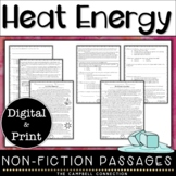 Heat Energy Worksheet Reading Passages and Questions