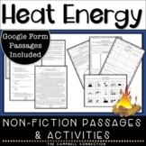 Heat Transfer Worksheet and Reading Passages with Questions